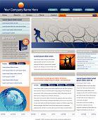 Editable Vector Website Template