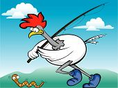 Fishing Rooster