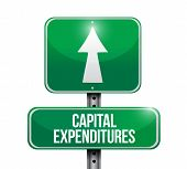 Capital Expenditures Road Sign Illustrations