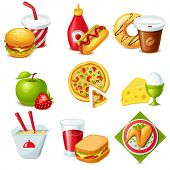 foto of egg noodles  - Food icon set - JPG