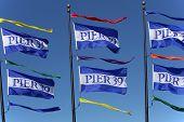 Pier 39 Flags - San Francisco