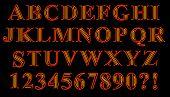 Neon Serif Alphabet