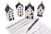 House With Mortgage Loan Application