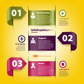 Set For Infographics Template For Business Teamwork