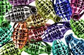 Multi-coloured Grenades