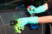 Car Handle Cleaning