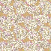 Paisley seamless lace pattern