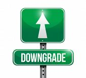 Downgrade Road Sign Illustration Design