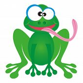 Cartoon-Frosch