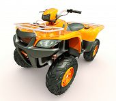 Sports quad bike on a light background