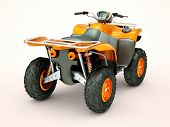 picture of four-wheeler  - Sports quad bike on a light background - JPG