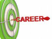 Career Concept. Dartboard And Arrow