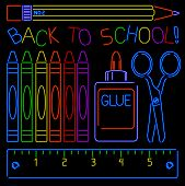 Neon Back-to-school Signs
