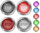 Stop. Raster internet buttons. Vector version is in portfolio.