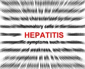 foto of hepatitis  - focus on hepatitis blur radial background abstract - JPG