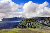 pic of bromo  - Bromo volcano mountain and cloud in Indonesia - JPG