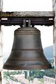 Big old bell in the tower of the citadel of Sisteron.