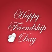 pic of friendship day  - Happy Friendship Day text on abstract red background - JPG