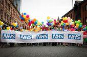 NHS Staff Parade at Manchester Gay Pride 2013