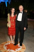 Sumner Redstone and wife Paula at the 2007 Vanity Fair Oscar Party. Mortons, West Hollywood, CA. 02-25-07