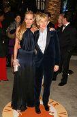 Portia de Rossi and Ellen DeGeneres at the 2007 Vanity Fair Oscar Party. Mortons, West Hollywood, CA. 02-25-07