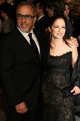 Emilio Estefan Jr. and Gloria Estefan at the 2007 Vanity Fair Oscar Party. Mortons, West Hollywood,