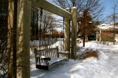 Park swing in the snow
