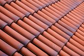 Red Tiles Roof Texture Architecture Background