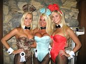 Katie Lohmann, Tina Jordan and Amanda Paige at the Milwaukee's Best Party, Playboy Mansion, Beverly