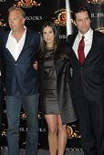 Kevin Costner with Demi Moore and Dane Cook at the ShoWest 2007 Photocall For MGM's
