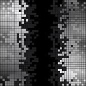 Abstract background with black and white pixels