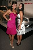 Arielle Kebbel and Olivia Munn at day one of the 2007 Mercedes-Benz Fashion Week Fall Collection. Sm