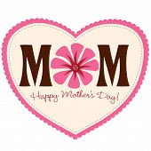 Mother's Day Card Isolated