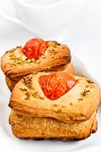 Bread with tomatoes