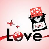Typewriting love letters