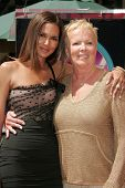 Halle Berry and her mother Judith at the ceremony honoring Halle Berry with the 2,333rd star on the