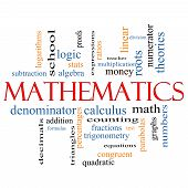 Mathematics Word Cloud Concept