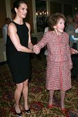 Brooke Shields and Nancy Reagan at the Saks Fifth Avenue and Colleagues Annual Spring Luncheon honor