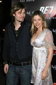 Christopher Backus and Mira Sorvino at the Los Angeles Premiere of