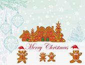 foto of ginger bread  - christmas card with a ginger - JPG