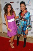 Bridgetta Tomarchio and Cassandra Hepburn at a Fashion and Music Extravaganza Promoting Human Rights