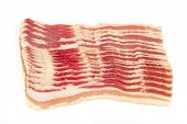 Bacon Slices On A White Background