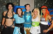 L-R Basura, Hygena, Parthenon, Ms. Limelight, and Braid at the