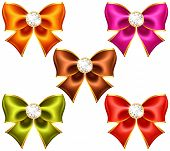 Holiday Bows With Diamonds