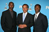 D.B. Woodside with Bruce S. Gordon and Isaiah Washington at the Press Conference for the 38th NAACP Image Awards. The Peninsula Hotel, Santa Monica, CA. 01-09-07
