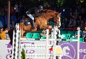 Saint Petersburg-july 05: Rein Pill On A Brok In The Csi3*-w/csiyh1* International Jumping Grand Pri