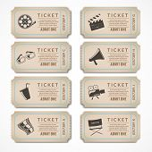 Retro cinema tickets