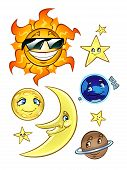 Sun Moon Stars And Planets