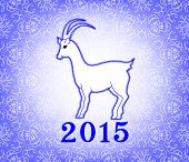 Goat On A Light Purple Background