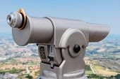 Spyglass On A Mountain In San Marino